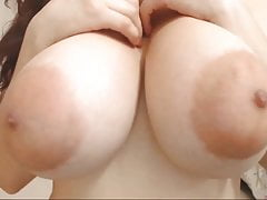 Cute face & huge areolas