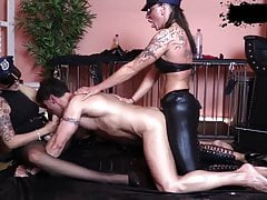 Fucked hard by strapon cops