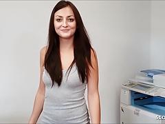 German Teen Secretary Seduce to Fuck POV and get Creampie
