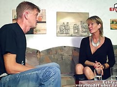 German mature old mother woman seduced younger son guy